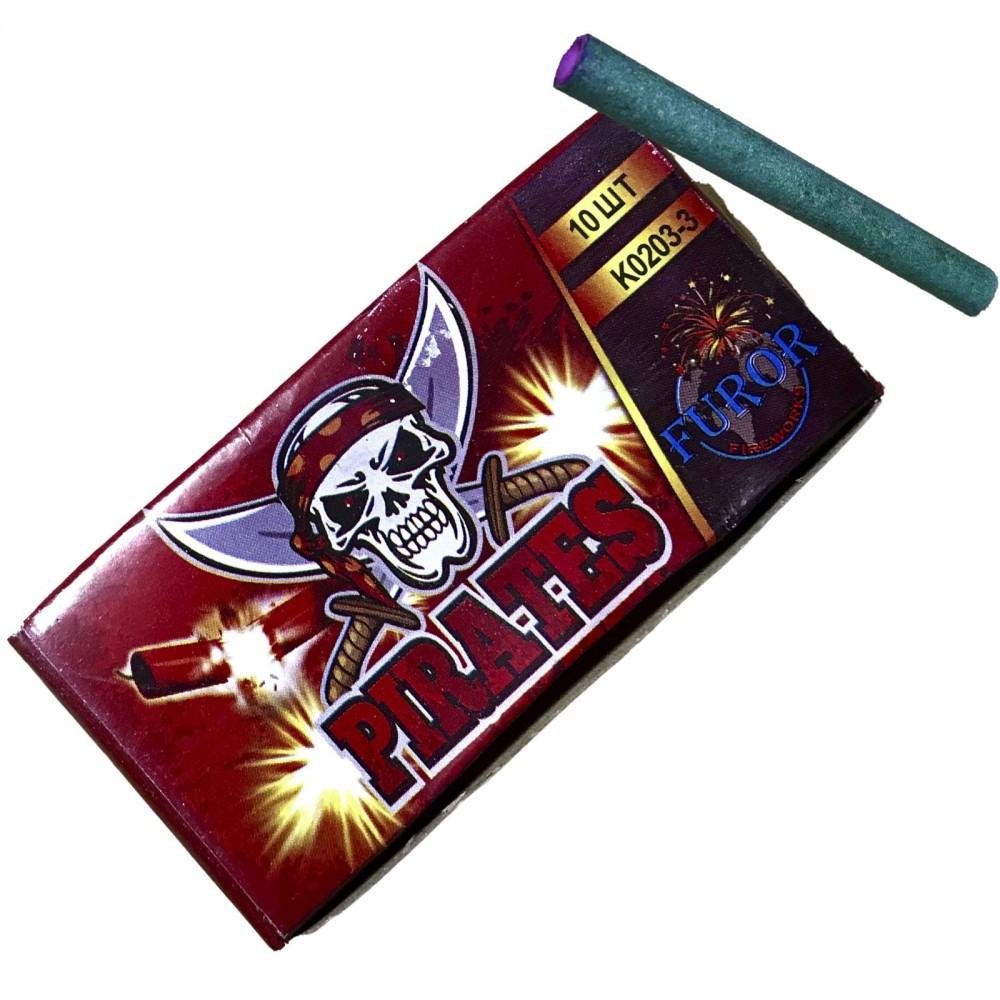 Упаковка петард K0203-3 Pirates на 3 вибухи (ЦІНА за упаковку із  шт)