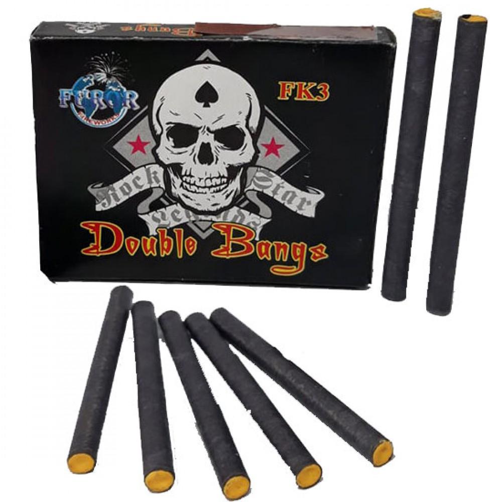 Упаковка петард FK3 Double Bangs на 2 вибухи (ЦІНА за упаковку із  шт)