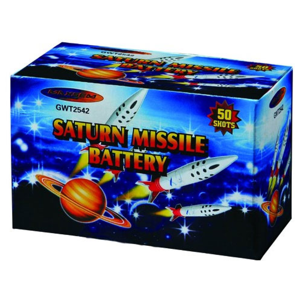 GWT2542 Салют со свистом на 50 выстрелов Saturn Missile Battery