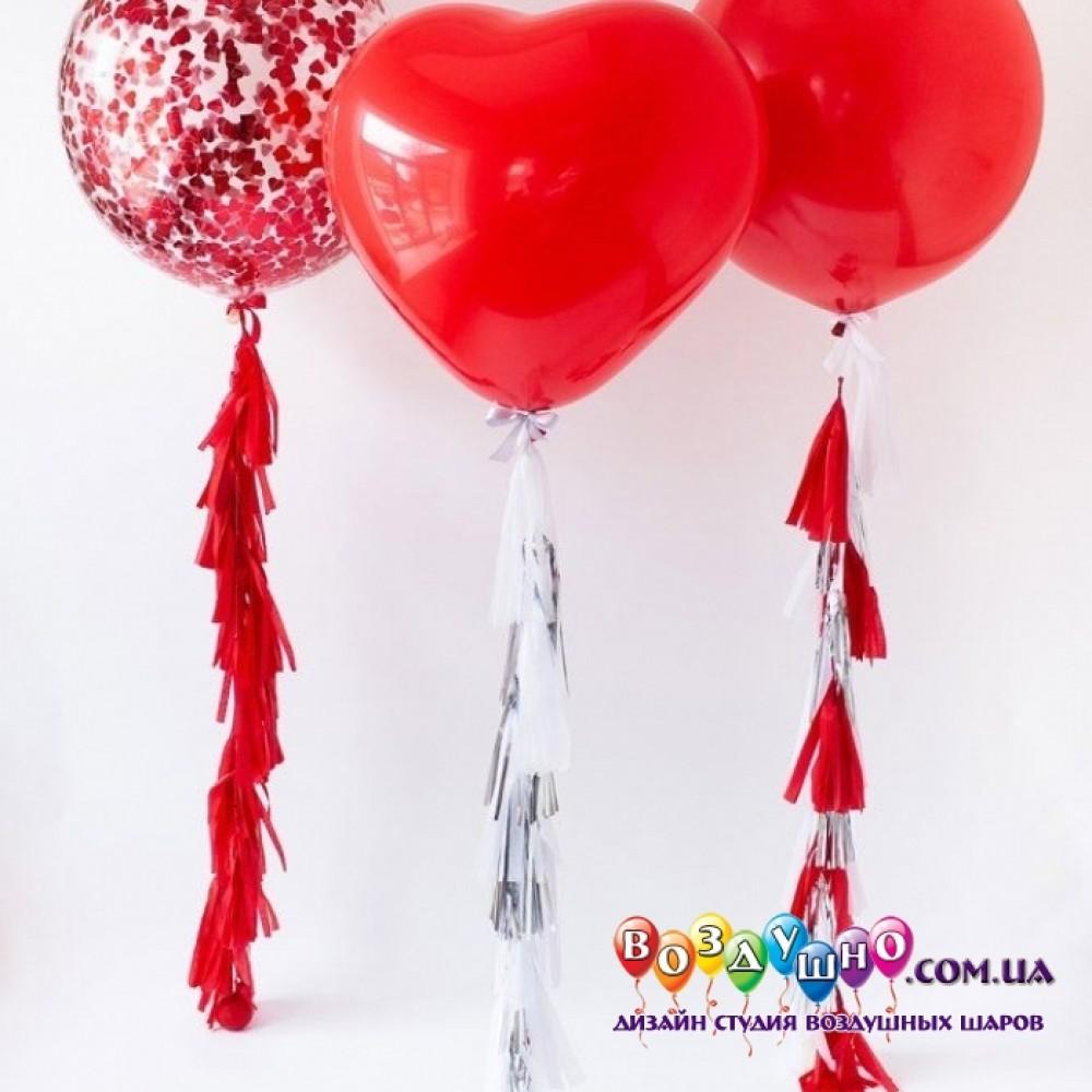 1112-0648 Набір гелієвих кульок із 3 шт