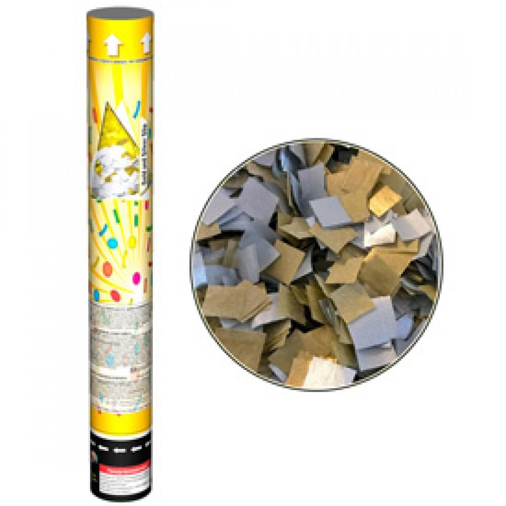 Хлопавка Золоті та срібні конфеті CM042, розмір 40 см,  виробник ТМ Maxsem