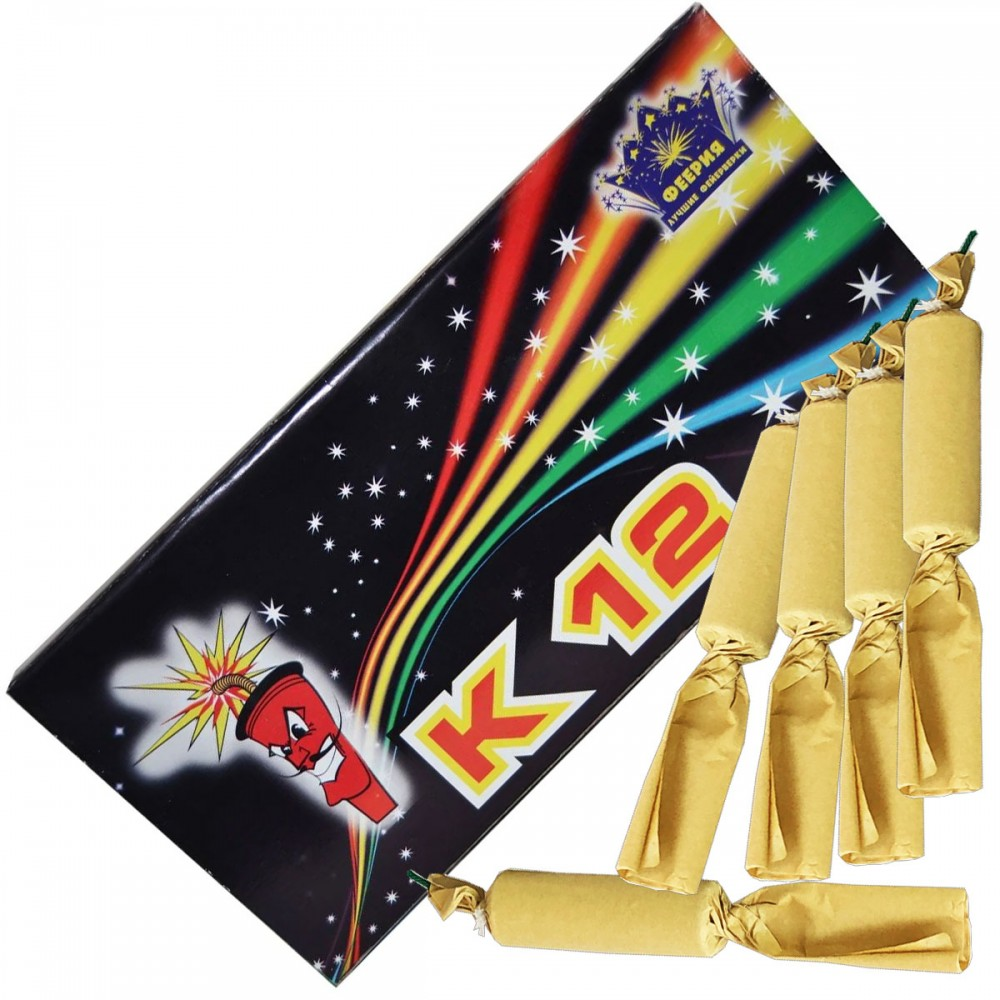 Упаковка петард K12 Іспанска цукерка (ЦІНА за упаковку із  шт)
